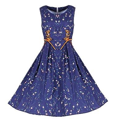 Vestido Azul de Mujer, Vestido de Gran tamaño, Corbata, Vestido de ...