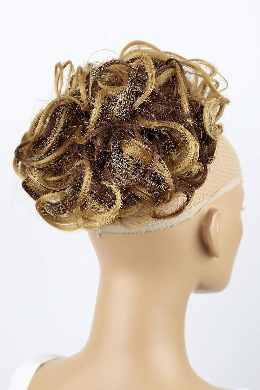 PRETTYSHOP Moño, Postizo, Trenza, Moño de estilo Hepburn, Coletero, Peinado alto mezcla de color rojo # 2T113A HK113