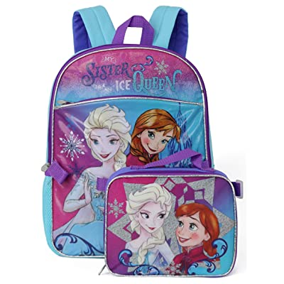 Disney Frozen Backpack with Lunchbox - violet, one size | Kids' Backpacks