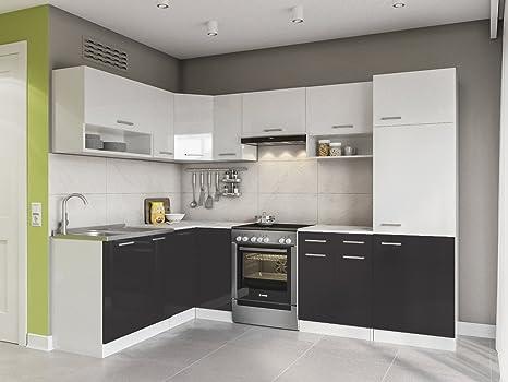 Eldorado de Muebles Cocina LX 270 + cm Negro l Forma de ...