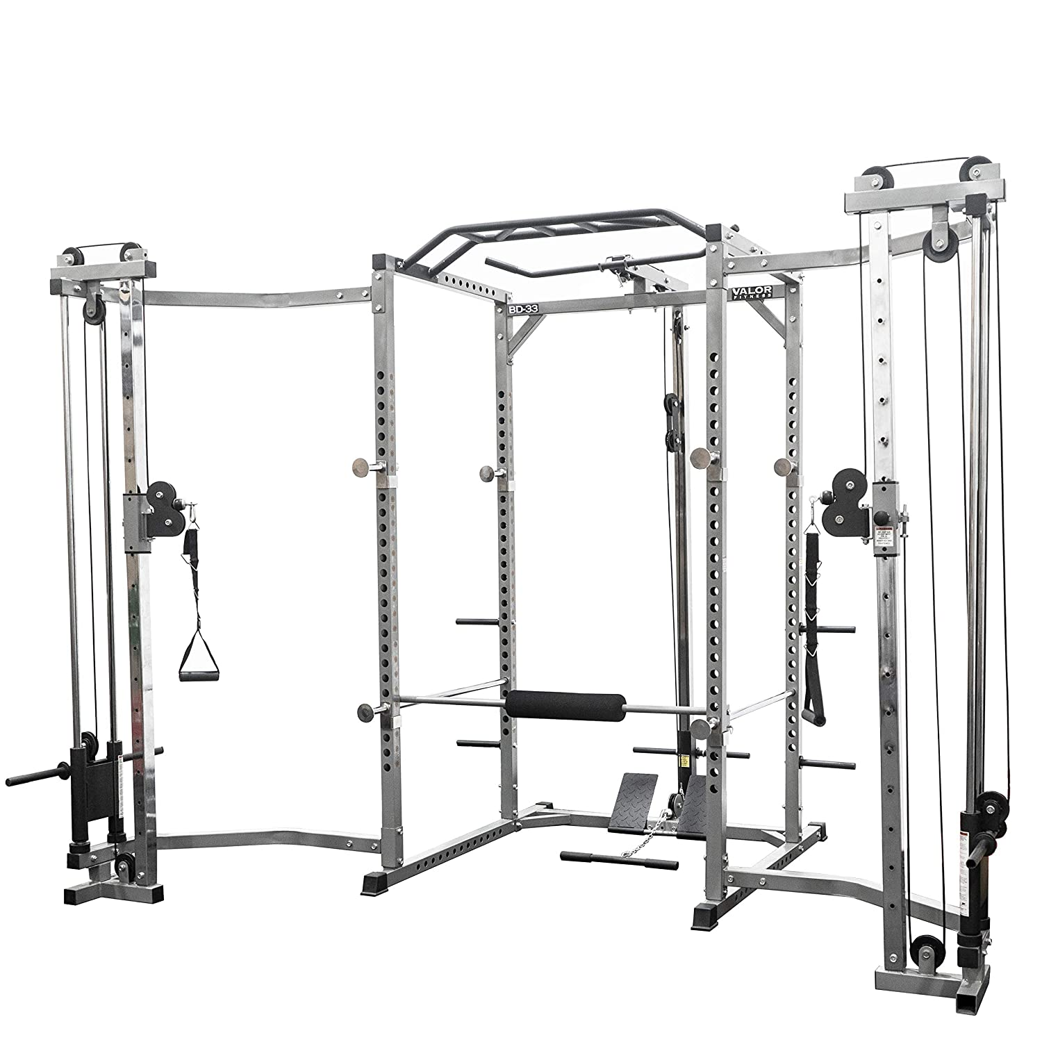 Valor Fitness BD-33 Heavy Duty Power Cage w Available Bundle Options for a Complete Home Gym