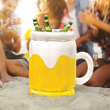 GJXY Cubo de Cerveza Inflable-Beer Bucket,Cubo de Hielo Jarra de ...
