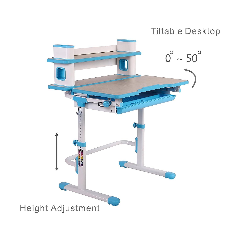 ST2011Kinder höhenverstellbar Schreibtisch und Stuhl Set ~ 3Jahren und bis (blau)