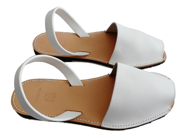 Avarcas menorquínas, varios colores, para hombre, abarcas, albarcas, sandalias 42 EU|Blanco, box
