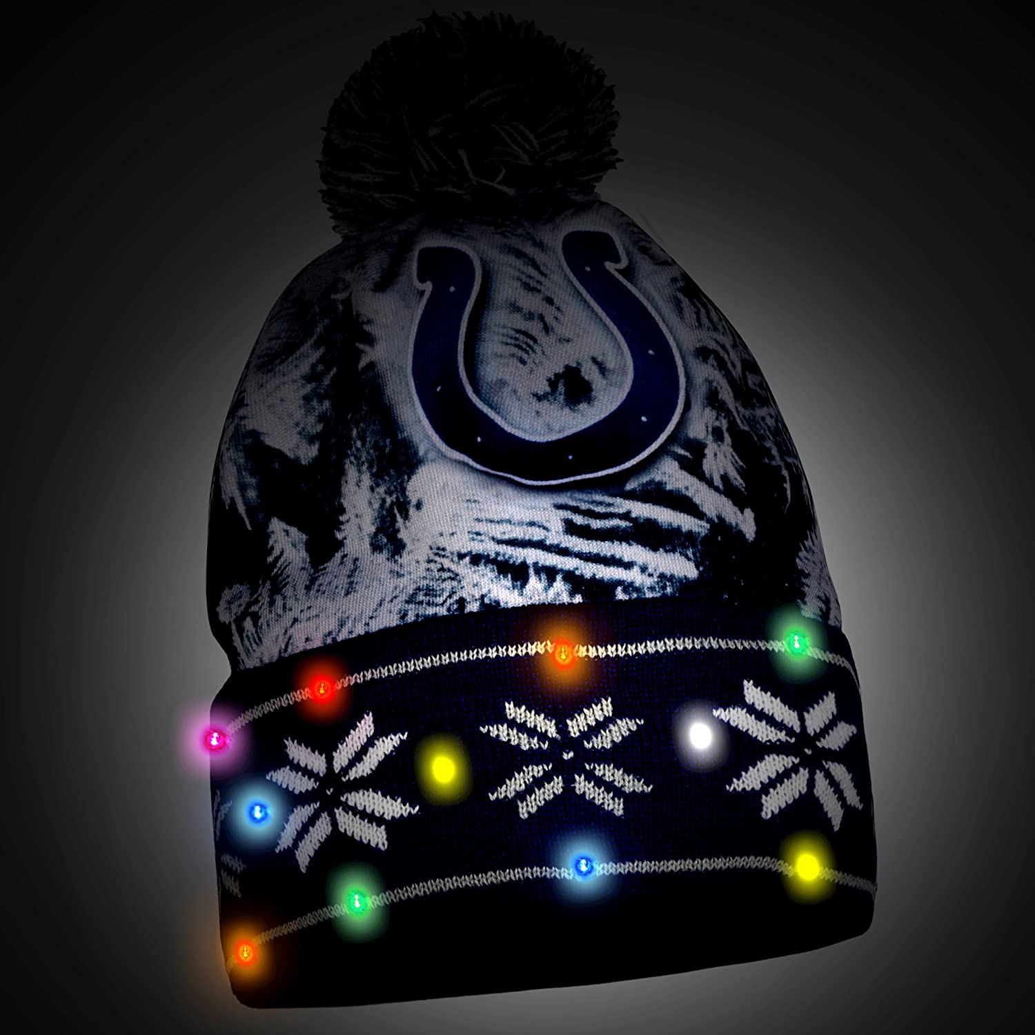 FOCO Big Logo Light Up Printed Beanie Big Logo Light UP Printed Beanie