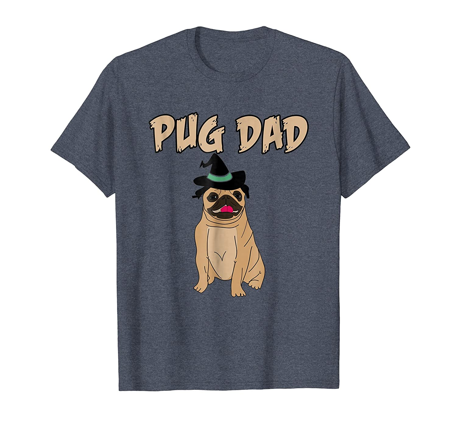 Cute Pet Pug Dog Animal Dad Father Halloween Grave T Shirt-AZP