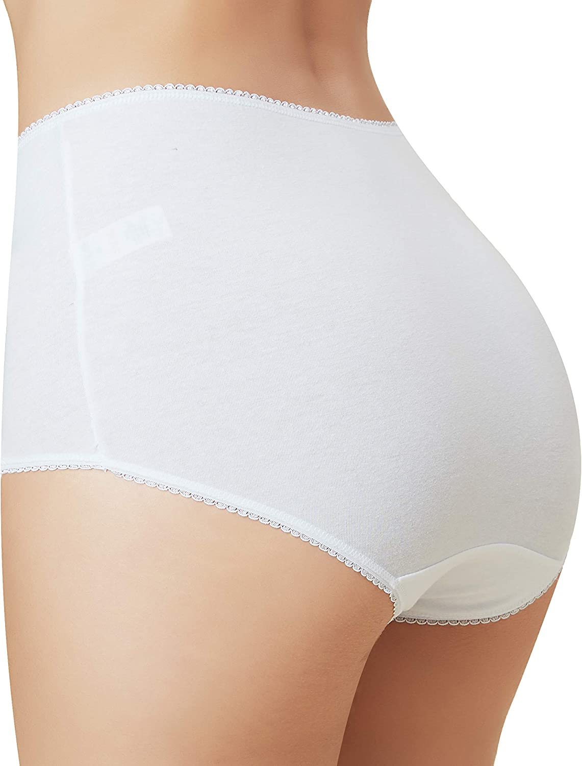 Womens Basic Cotton Rich Full Briefs Multipack of 5
