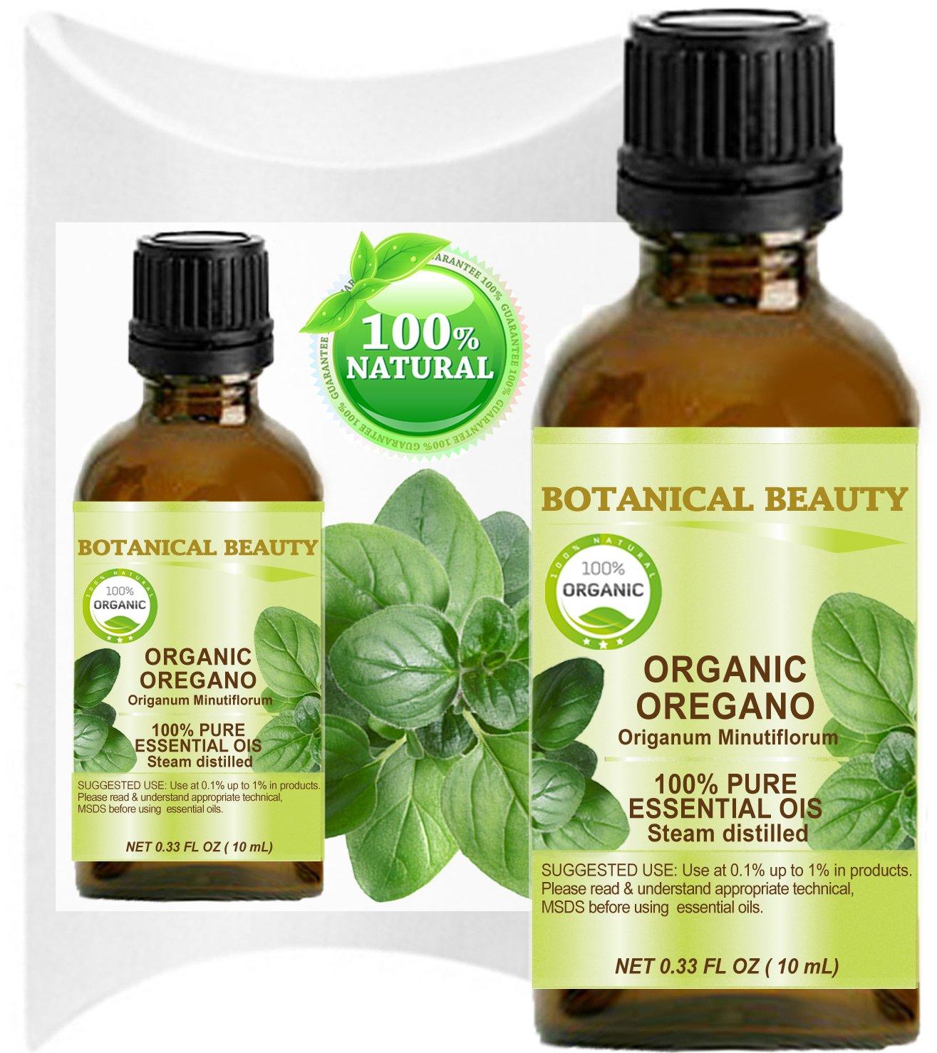 Botanical Beauty Organic OREGANO ESSENTIAL OIL WILD GROWTH. 100% Pure Therapeutic Grade Essential Oil Premium Quality, Undiluted. 0.33 Fl.oz.- 10 ml.