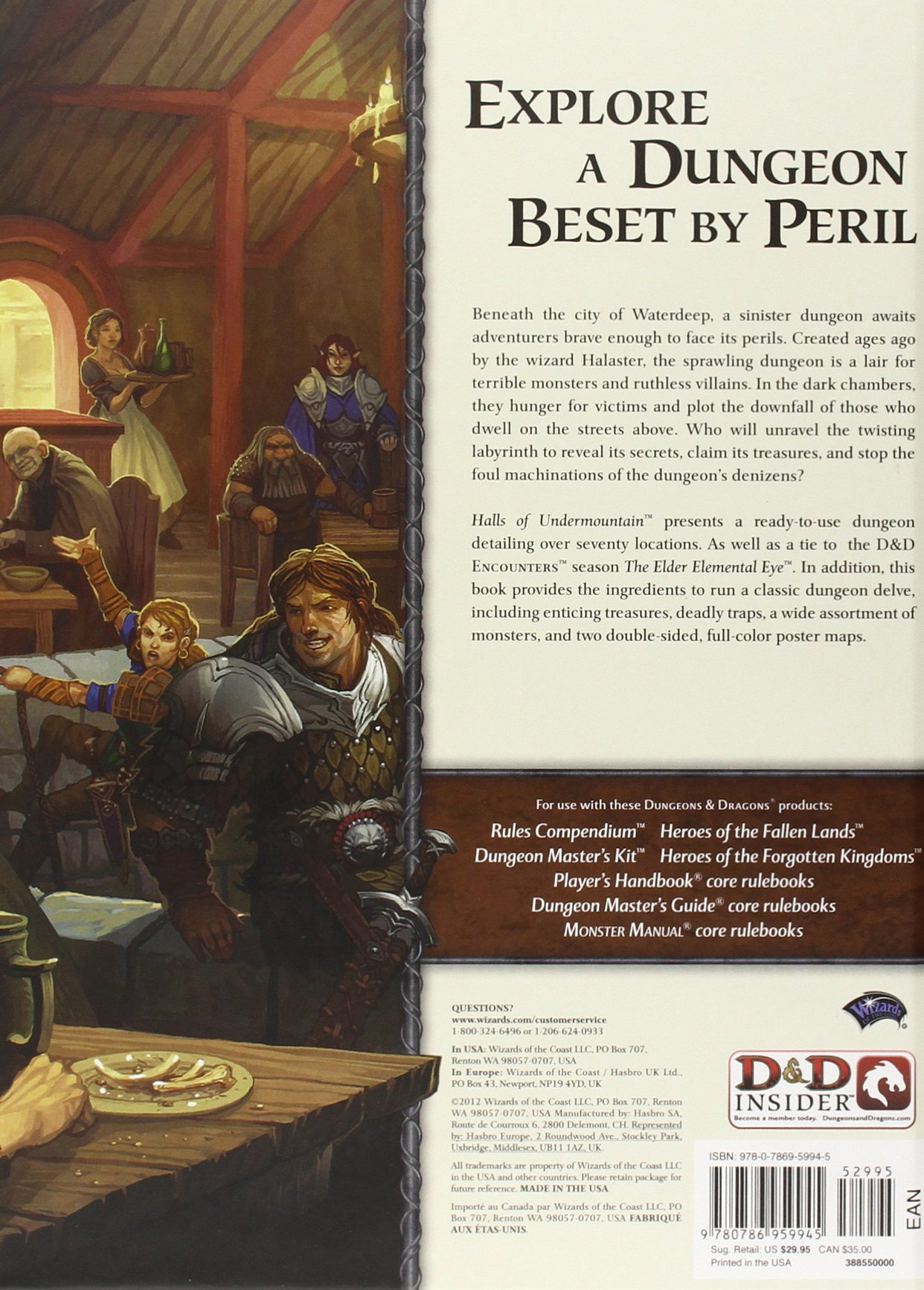 Halls of Undermountain: A 4th Edition Dungeons & Dragons
