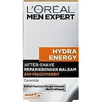 L'Oréal Men Expert Hydra Energy After-Shave reparierender Balsam, Beruhigt und belebt Haut nach Rasur keine Rötungen, Hautirritationen und Pickel (100 ml)