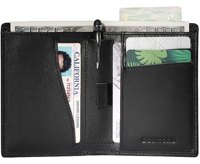 Amazon.com: Billetera delgada de doble pliegue con bloqueo ...