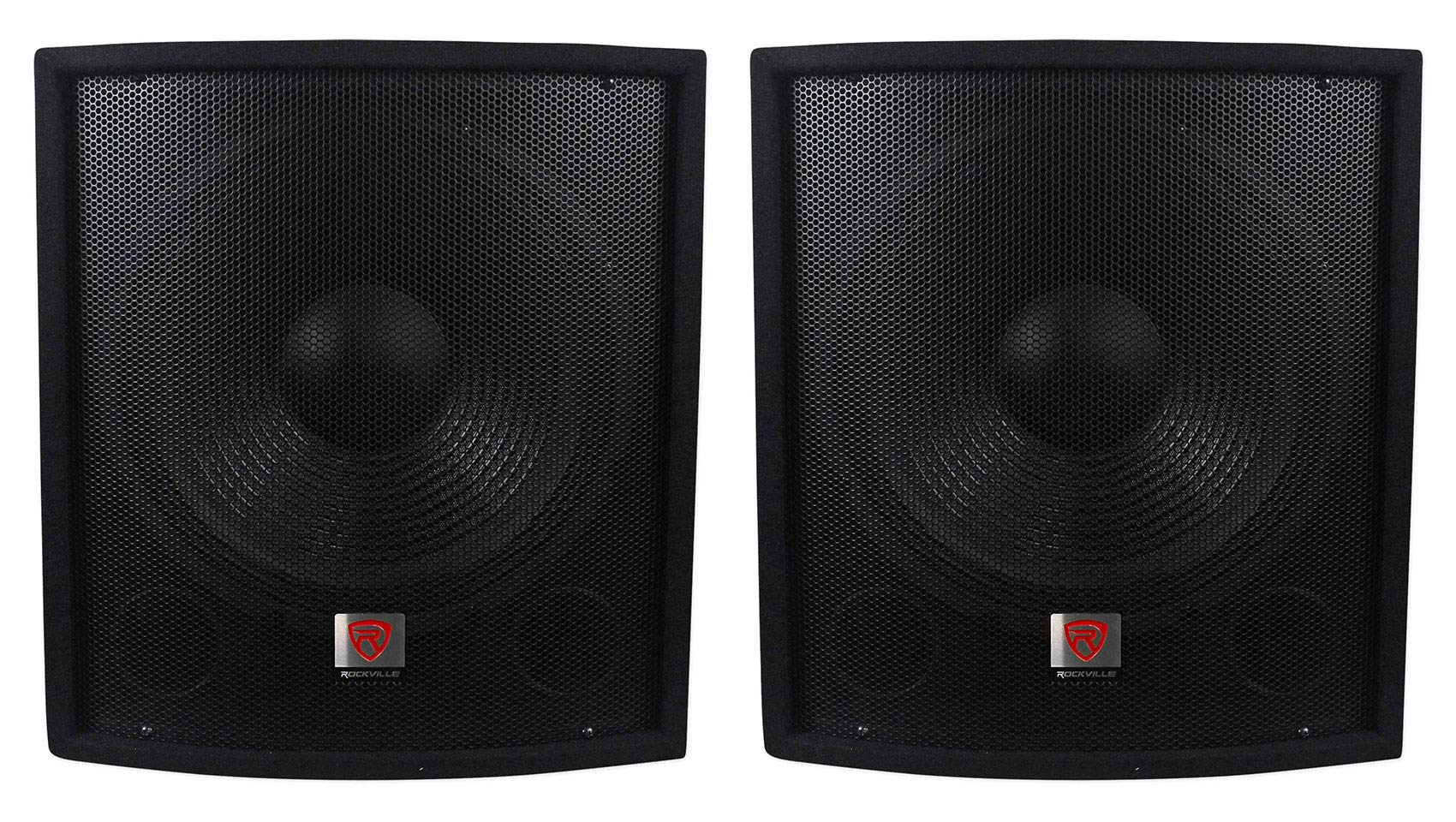 (2) Rockville SBG1158 15'' 800w Passive Pro DJ Live Sound Subwoofers MDF Cabinets by Rockville