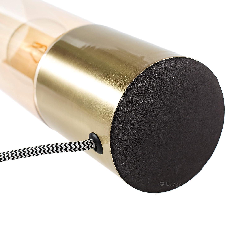 Messing Farbe Retro Vintage Modern und Industrial Design Mit LED Edison Gl/ühbirne Gadgy /® Tischlampe Touch Dimmbar
