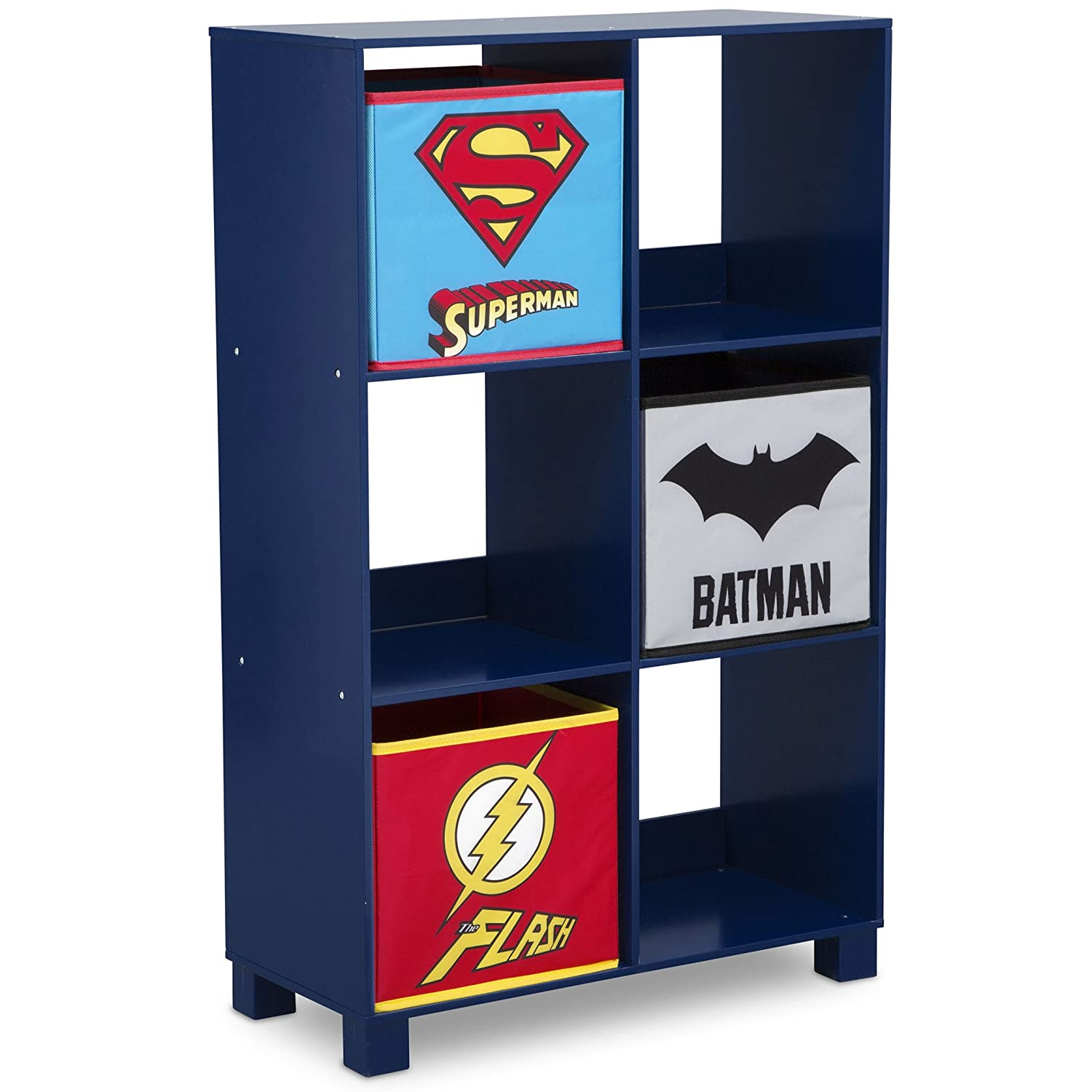 6 Cubby Deluxe Storage Unit, Justice League