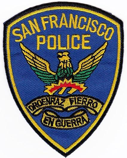 Parche plancha de planchar Iron on patches applikation Uniforme US San Francisco Police Policía: Amazon.es: Coche y moto