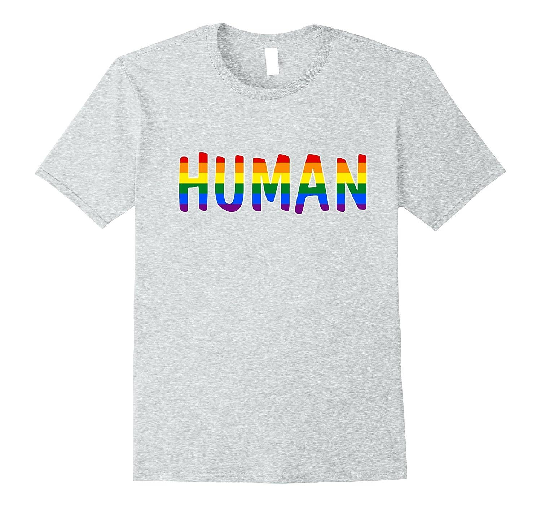Human LGBT Lesbian Gay Bisexual Transgender Support Shirt-Vaci