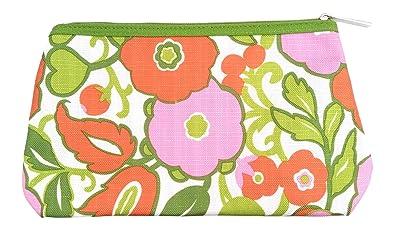 Amazon.com: Clinique ~ Rosa & Verde & Naranja Floral Bolsa ...
