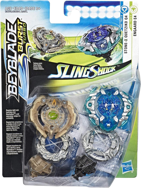 Hasbro Beyblade Burst Turbo SlingShock Dual Pack Quetziko Q4 ...