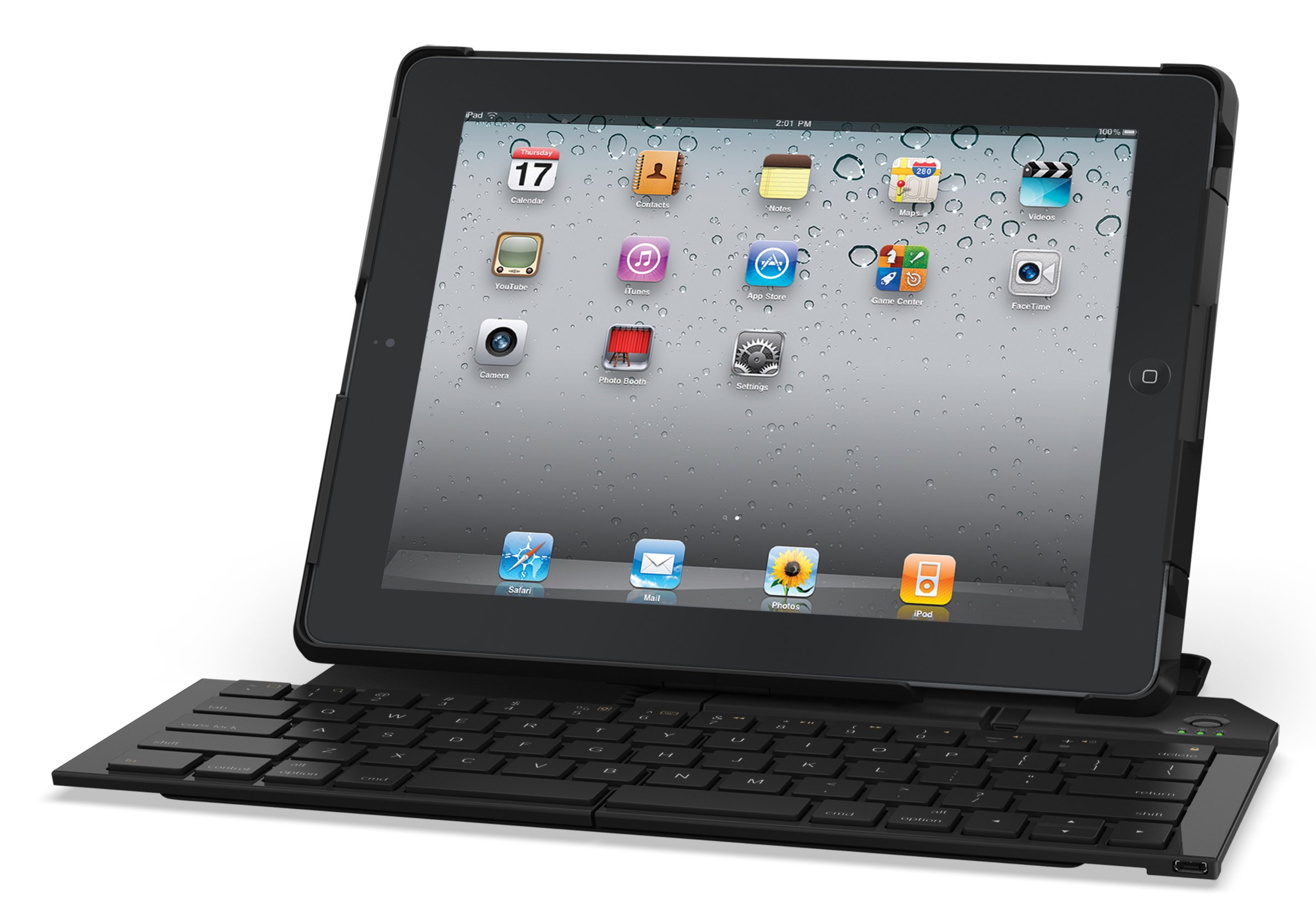 Logitech Fold-Up Keyboard, Bluetooth Keyboard and Stand for iPad 2