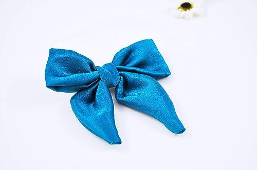 SALE  Blue Polka Dot Perfect Bow  Baby Girl Headband  Baby Boy Bow tie  Nylon Headband  Hair Clip  Coming Home Outfit  Newborn Prop