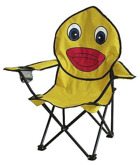 Silla plegable para niños (jardín, playa, camping), diseño de rana o de mariquita (pato)