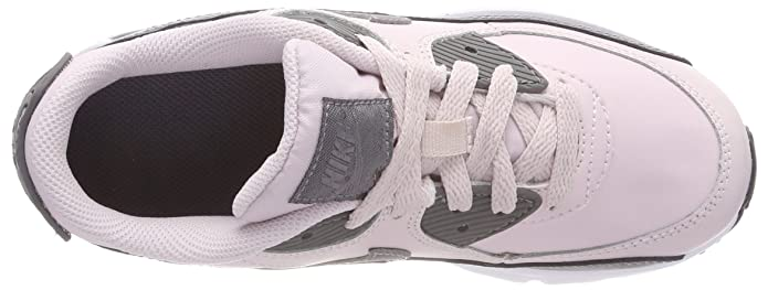 Nike Air Max 90 Leather (PS), Sneakers Basses Fille, (Barely
