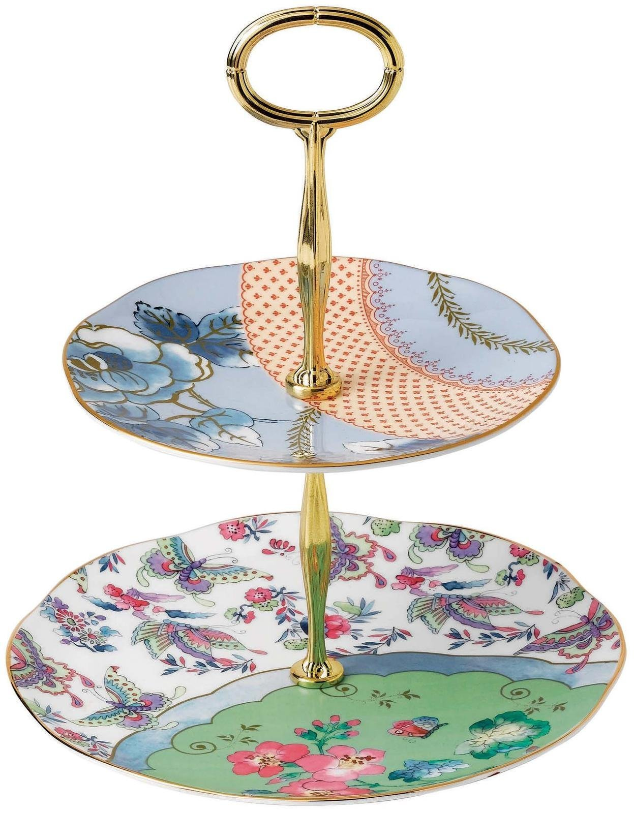Wedgwood Butterfly Bloom Cake Stand Two-Tier