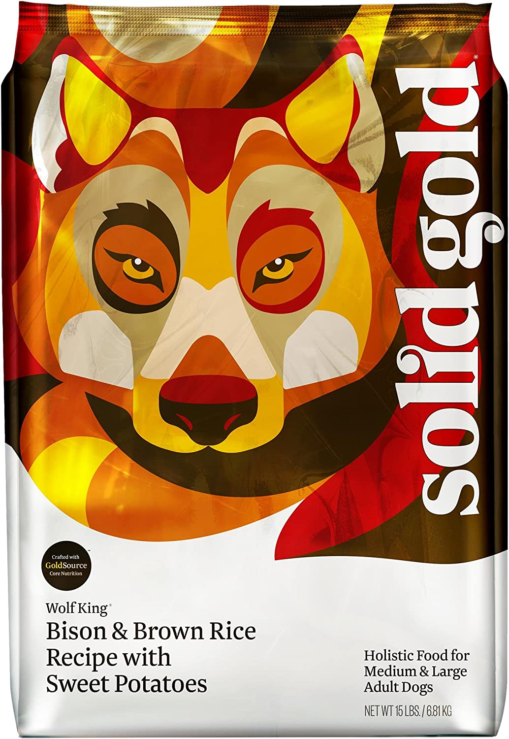 Solid Gold Wolf King Bison And Brown Rice Recipe With Sweet Potatoes Holistic Adult Dry Dog Food