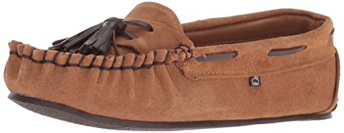 e9ff63f0250 Lamo Leah Chestnut Premium Suede Womens Moccasin Full Grain Leather Lining