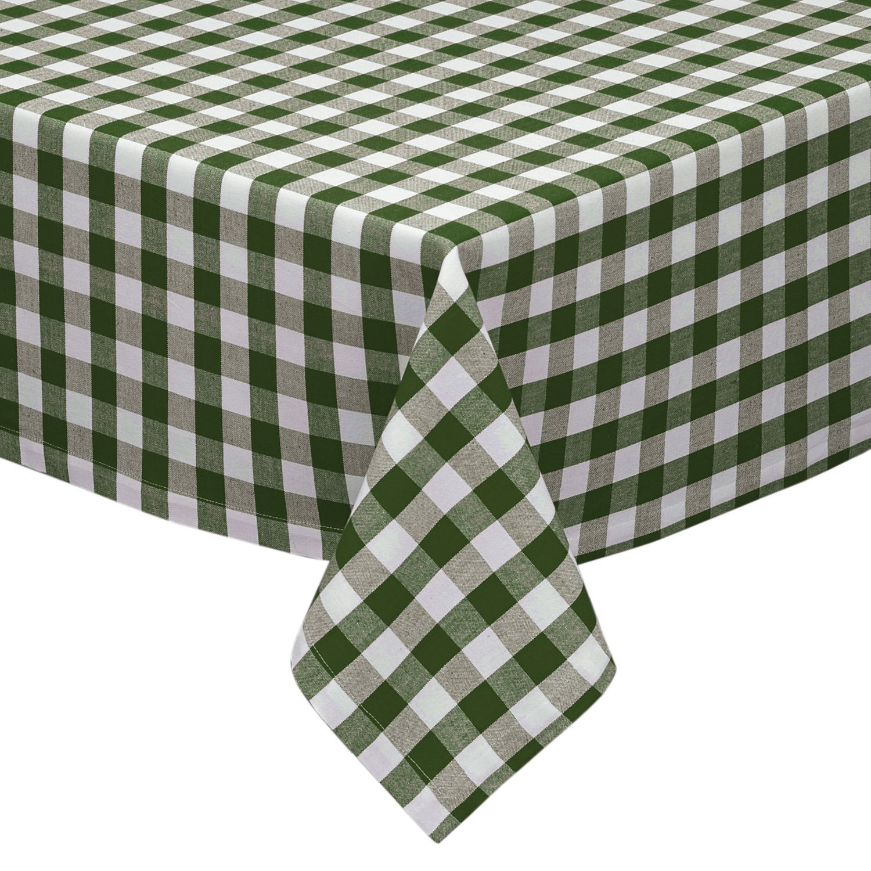 """Cotton Park Cottage Tablecloth ~ Melon Stripe ~ 60/"""" x 84/"""" Rectangular **NEW**"""