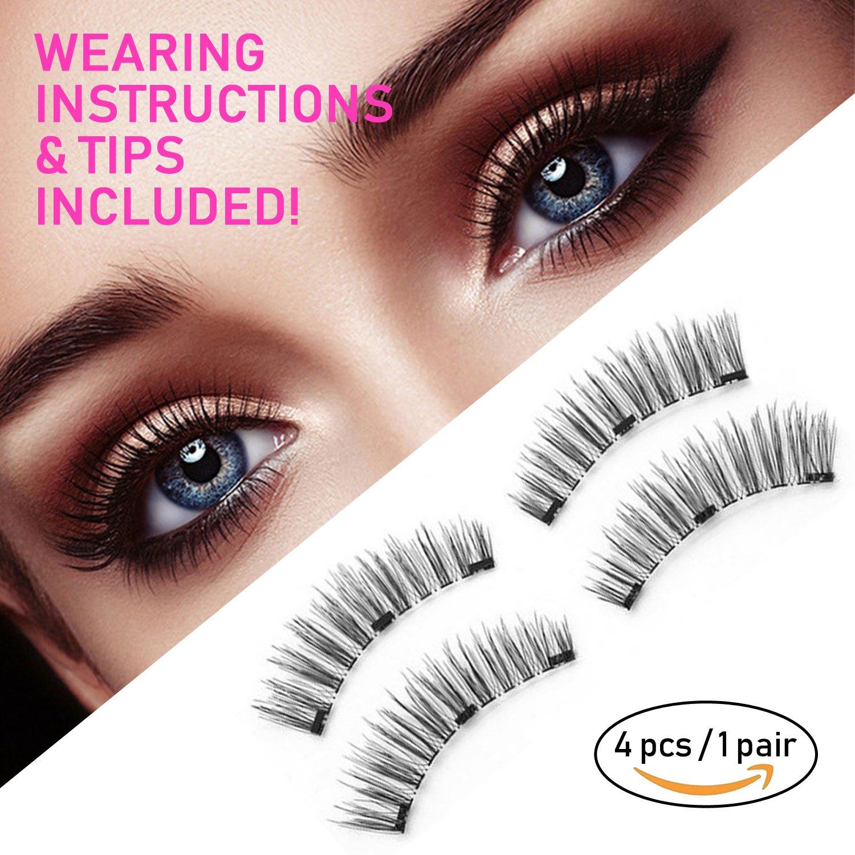 Amazon Magnetic Eyelashes No Glue Reusable False Eyelashes Set