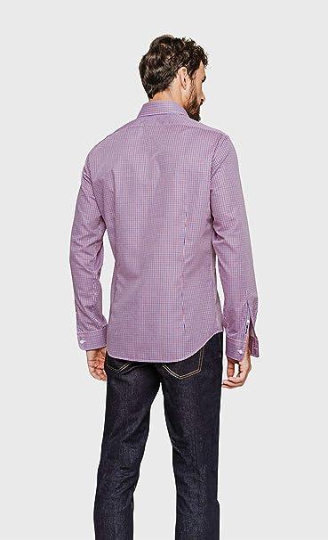 ARROW - Camisa de Cuadros con Ajuste Regular Cereza 41: Amazon.es: Ropa y accesorios