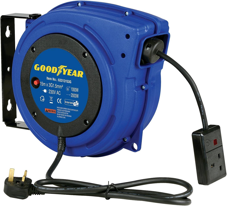 Goodyear L815153g Acier r/étractable Compresseur dair//eau Enrouleur de tuyau avec 3//8/in X 15,2/m max 300/psi Tuyau en caoutchouc