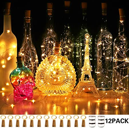 LED Cork Wine Bottle Lights Mini String Fairy Light Battery Christmas Party DIY