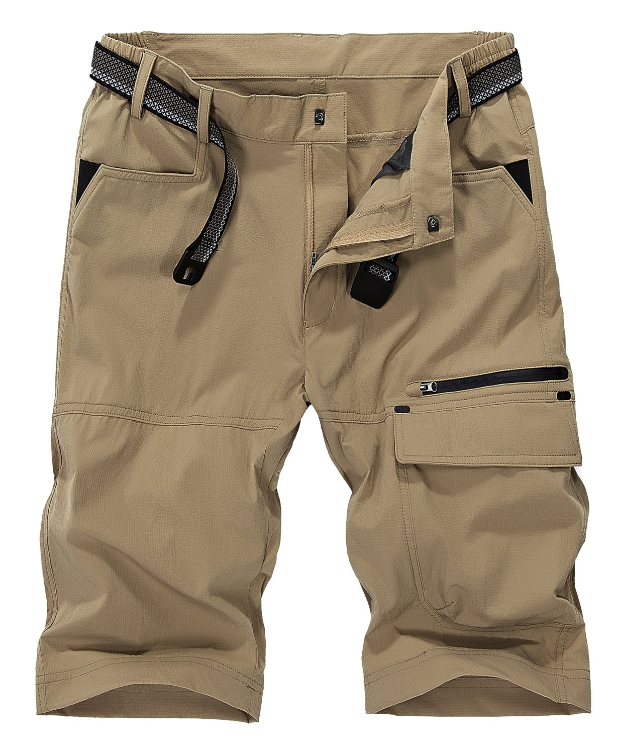 Vcansion Men's Outdoor Lightweight Quick Dry Hiking Shorts Sports Casual Shorts Khaki US 32 by Vcansion