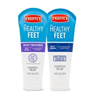 O'Keeffe's for Healthy Feet Foot Cream, 3oz Tube and Night Treatment Foot Cream,...