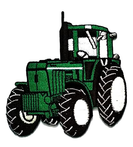 Amazon Com 3 5 X 3 5 Inches Green Tractor Cartoon Kid Patch