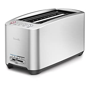 Breville BTA830XL Die-Cast 4-Slice Long Slot Smart Toaster (Renewed)
