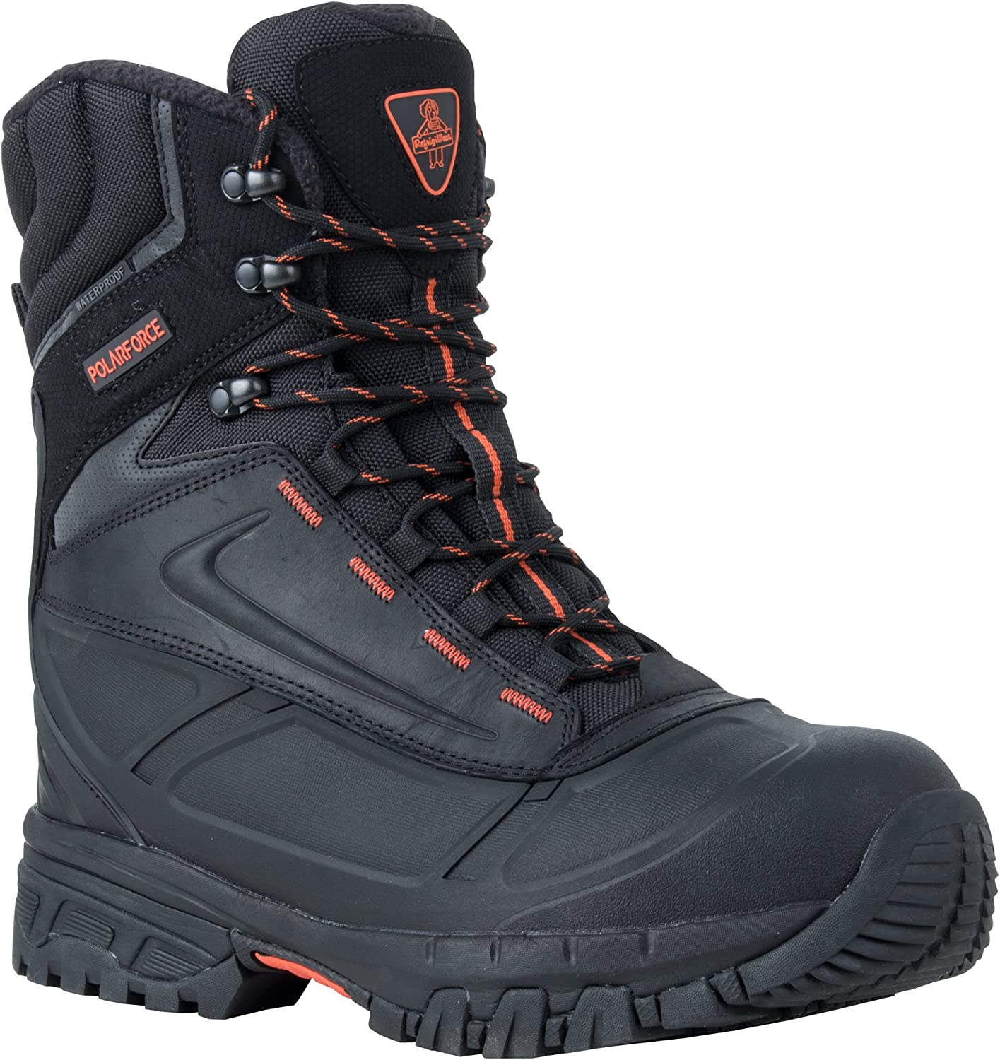 RefrigiWear Men's PolarForce Max Waterproof Insulated 8-Inch Leather Work Boots