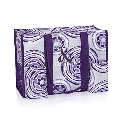 Amazoncom Thirty One Zip Top Organizing Tote In Geo Pop No