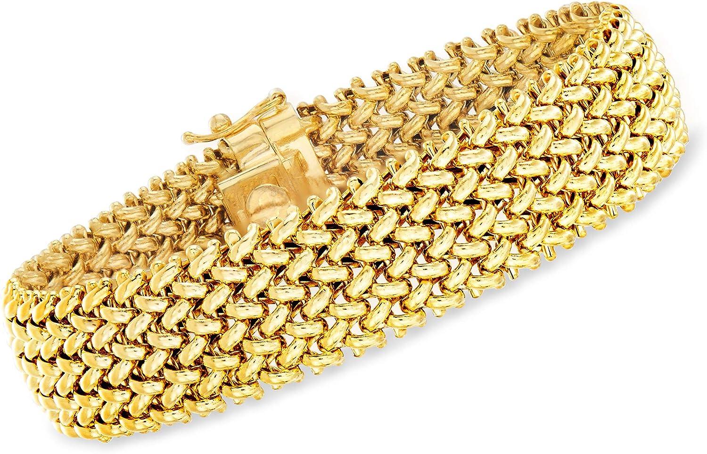 Ross-Simons Italian 14kt Yellow Gold Riso Bracelet For Women 7, 8 Inch Made in Italy