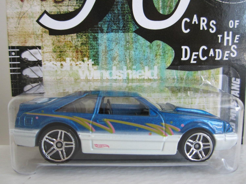 2012 2012 2012 Hot Wheels 90s Cars of the Decades '92 Ford Mustang Blau/Weiß  25/32 by Mattel 160b4b