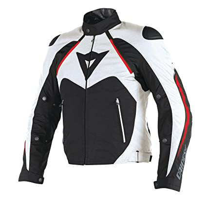 a5bf13c8c5e4 Amazon.com: Dainese Hawker D-Dry Mens Textile Motorcycle Jacket Black/White/ Red 54 Euro: Automotive