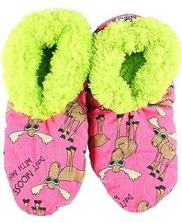 82c99e6650c3 Womens Plush Fuzzy Feet Slippers by LazyOne