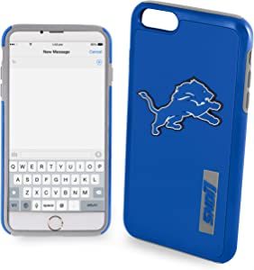 """Forever Collectibles - Licensed FOCO NFL Cell Phone Case for Apple iPhone 6 Plus / 6s Plus 5.5"""" Screen Only - Retail Packaging - FOCO NFL Detroit Lions"""