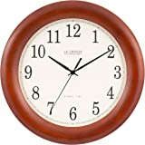 "La Crosse Technology WT-3122A 12.5 Inch Wood Atomic Analog Clock, 12.5"", Cherry Walnut"