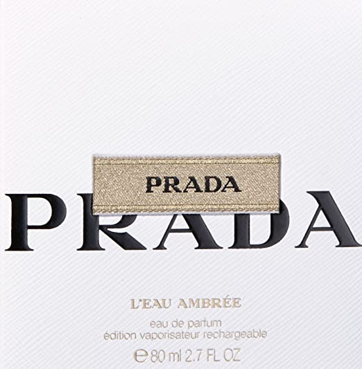 Prada L 'Eau Ambree For Women, Eau De Parfum Nachfã ¼ Tray, 80 ml