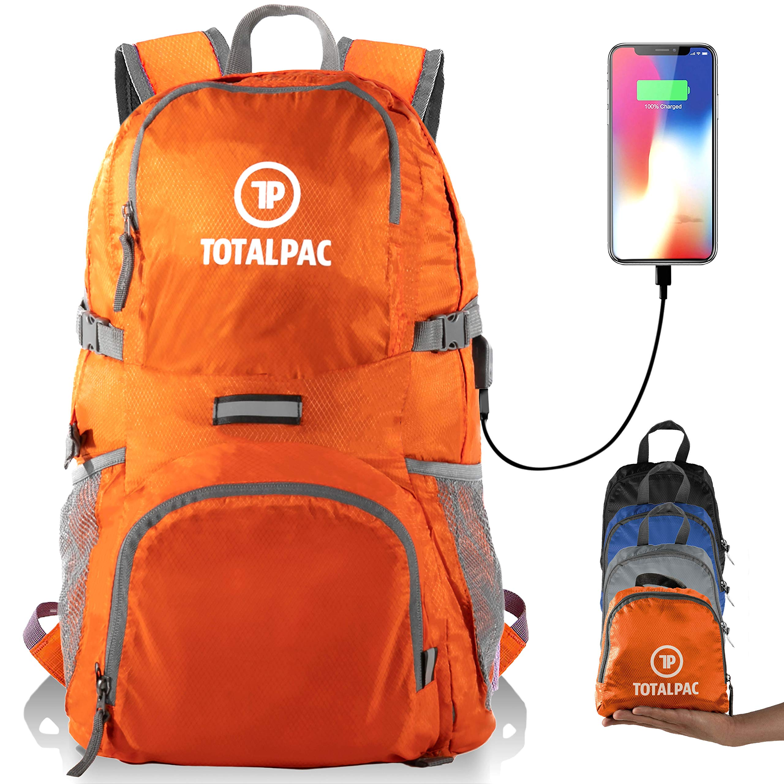 Totalpac - Hiking Daypack - Foldable Backpack for Traveling, Hiking & Camping by Totalpac