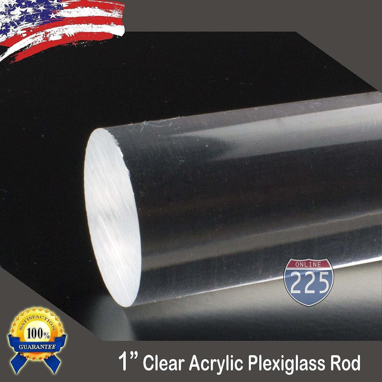 "7 DIFFERENT CLEAR 3//4"" INCH DIAMETER COLOR ACRYLIC PLEXIGLASS PLASTIC LUCITE ROD"