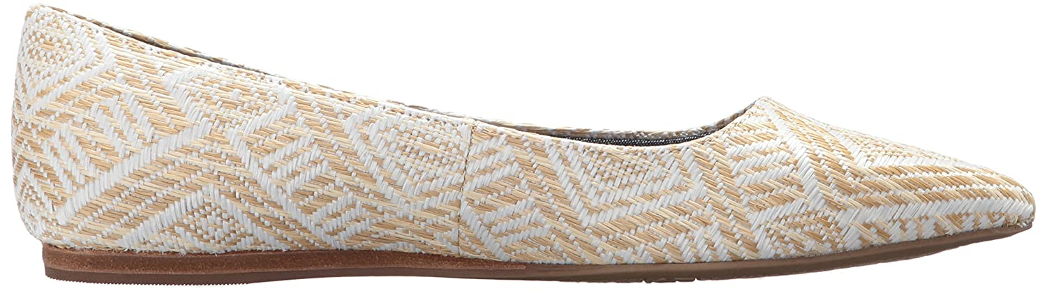 Dr. Scholl's Shoes Women's 9.5 Leader Ballet Flat B074N8CV2C 9.5 Women's B(M) US|Natural Raffia 79987c